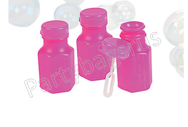Pink mini bubbles with wand party bag toys fillers for Mini bubble wands