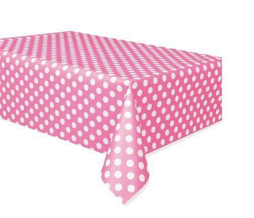 Hot Pink Polka Dot Table Cover 54