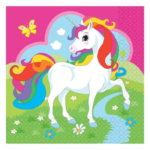Unicorn Party Napkins 20 Pk Paper Party