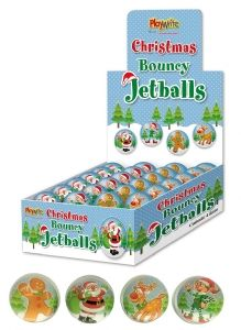 1 Box 48 Christmas Bouncy Jet Balls
