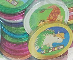 1 Dino land Dinosaur Milk Chocolate Coin