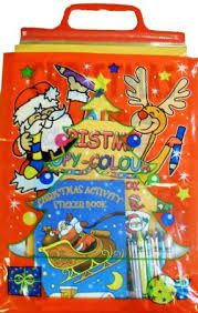 100 Christmas Activity Carry Pack (3 Books + 1 pk Crayons)