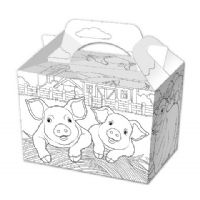 100 Colour Your Own Farm  Food Boxes Party Box