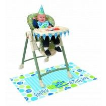 1st Birthday Boy Turtle High Chair Decoration Kit Tableware