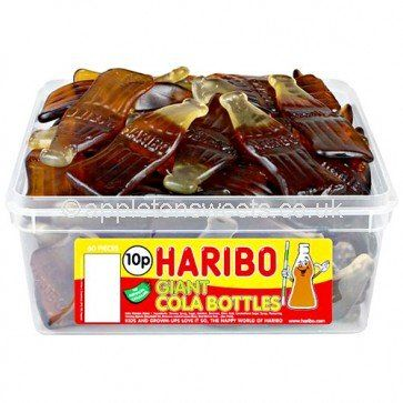 60 Haribo Giant Cola Bottles  1 Tub of 60