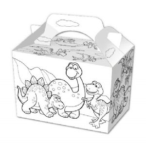 Colour Your Own Dinosaur Food Box Party Box