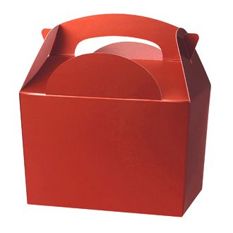 Red Party Box / Food Box Lunch Party Bag Toys