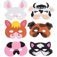 Animal Masks Face Soft Party Bag Toys