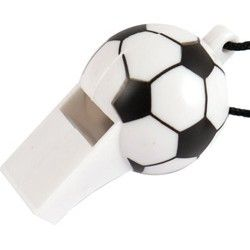 Black & White Football Whistle Party Bag Toys