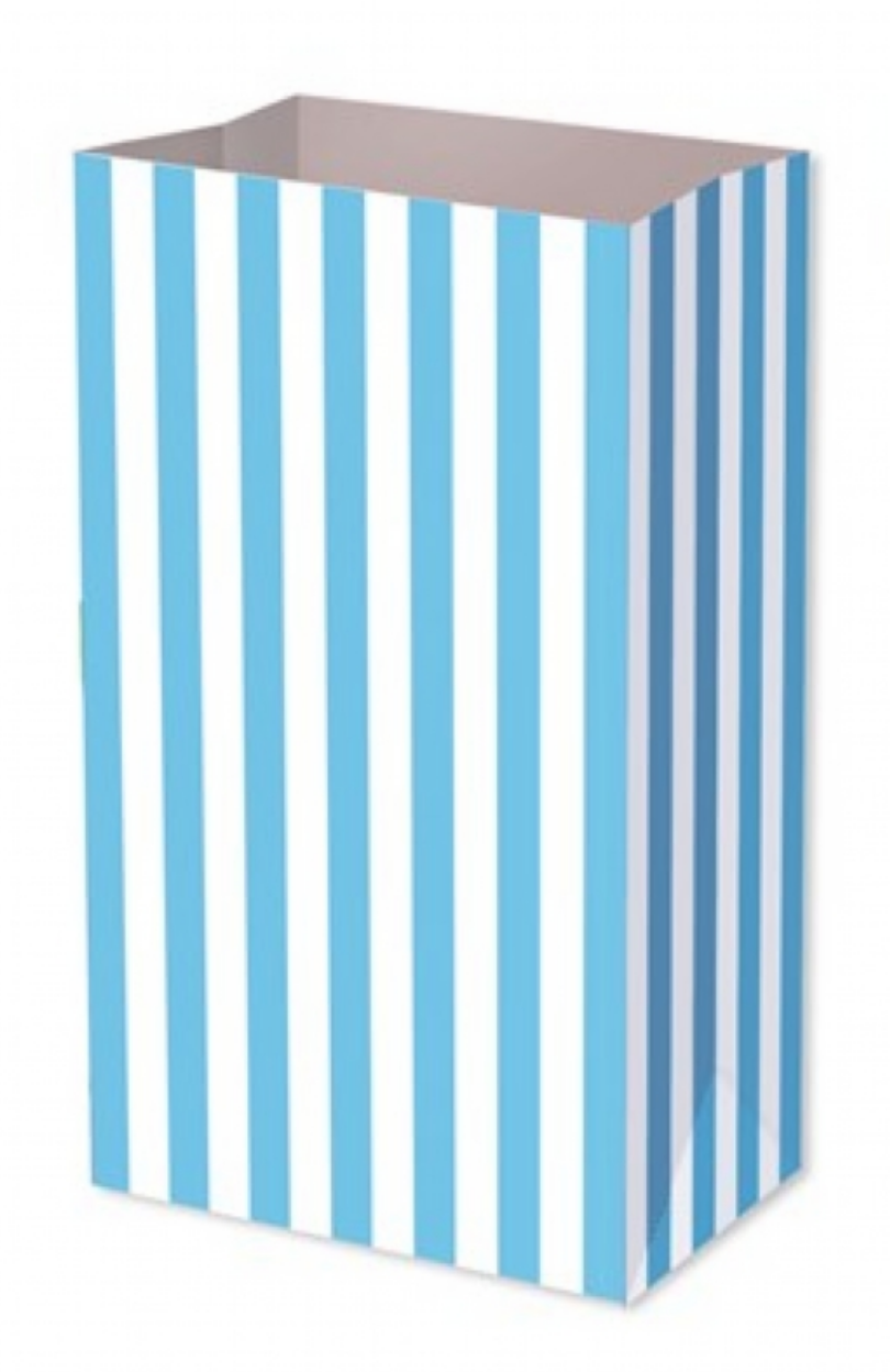 Blue Candy Stripe Food Party Bag