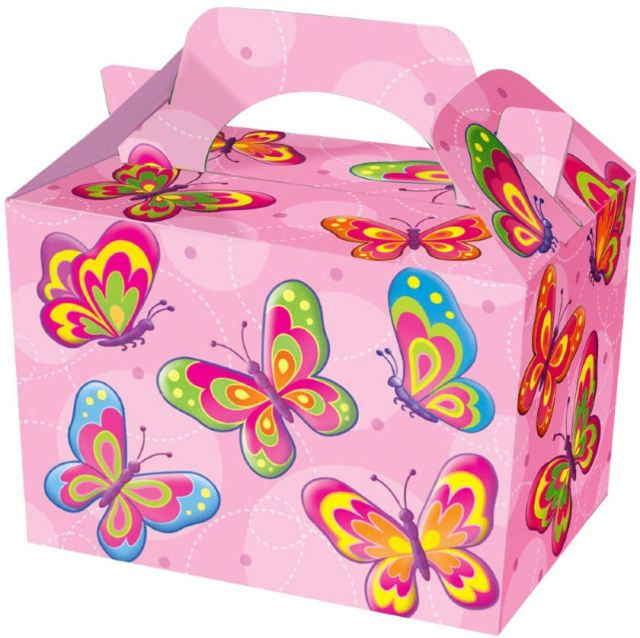 Butterfly Party Food Cardboard Box