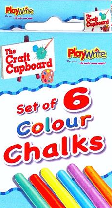 Chalks Coloured  in a box Pk 6 Party Bag Toys