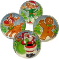 Christmas Bouncy Jet ball 35mm Party Bag Toys