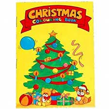Christmas Colouring Book Mini Party Bag Toys