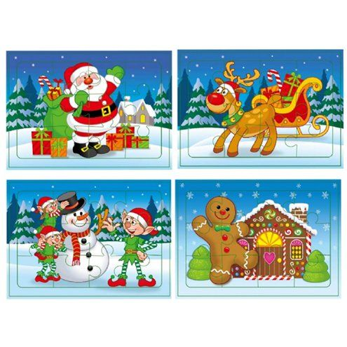 Christmas Jigsaw Puzzle Party Bag Toys
