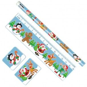 Christmas Stationery Set 4pc Party Bag Toys