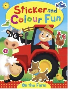 Farm A4 Sticker and Colour Fun Book