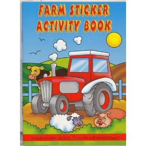 Farm Sticker Activity Book Party Bag Toys