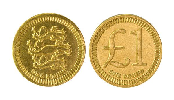 Gold £1 Chocolate Coin Party Bag Sweets