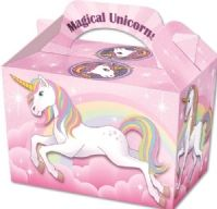 Magical Unicorn Party Boxes - Food Loot Lunch Cardboard Party Bag Toys
