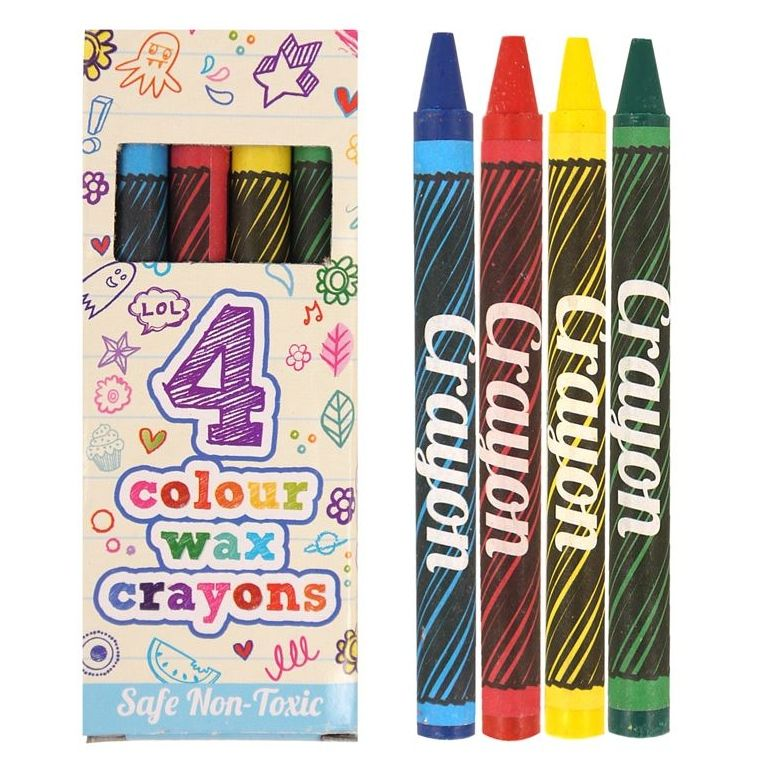 Mini Crayons Party Bag Toys (1 pack of 4)