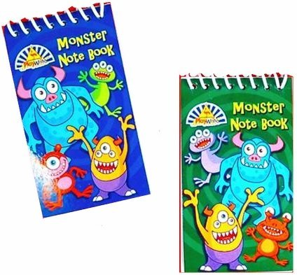 Monster Notebook Party Bag Toys