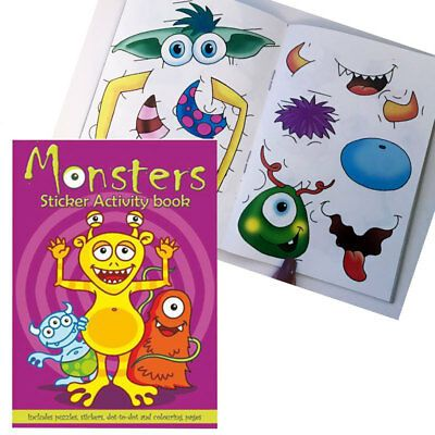 Monster Sticker Activity Book Mini Party Bag Toys