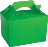 Neon Green Party Boxes - Food Loot Lunch Cardboard Party Bag Toys