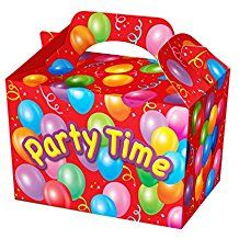 Party Time Party Box - Food Loot Lunch Cardboard Party Bag Toys
