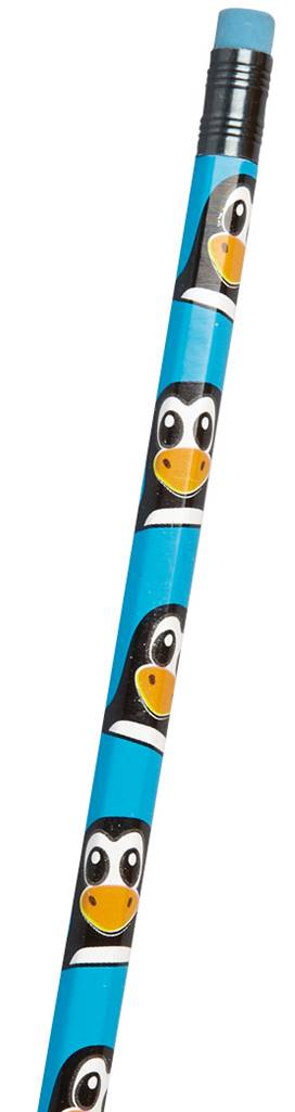 Penguin Pencil with Eraser Party Bag Toys