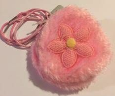 Pink Fluffy Small Purse with Elastics Party Bag Toys