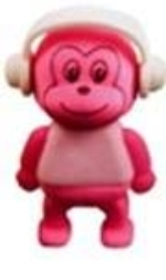 Pink Monkey Eraser Party Bag Toys