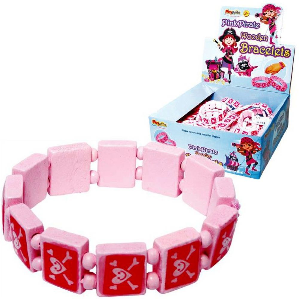 Pink Pirate Bracelet Party Bag Toys Gifts
