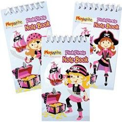 Pink Pirate Notebook Party Bag Toys