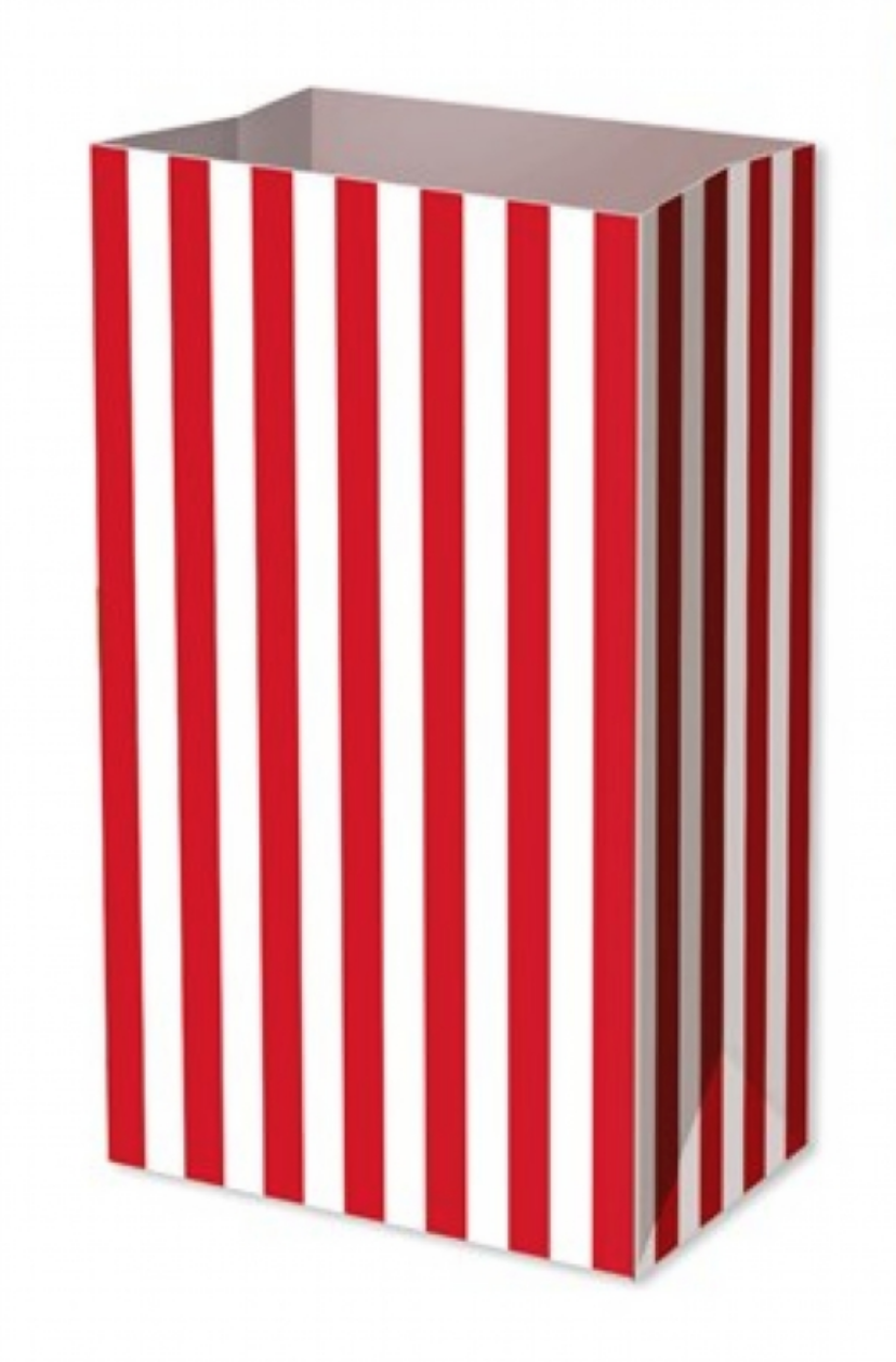 Red Candy Stripe Food Party Bag