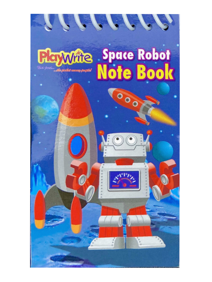 Robot Notebook Space Party Bag Fillers Toys