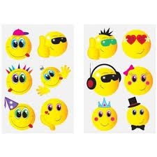 Smiley Tattoo Sheet Kids Party Bag Toys Loot Fillers