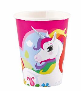 Unicorn Paper Cups 9oz 8 Pk Party